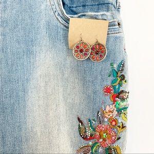Jewelry - 🌺2/$15;3/$20 Boho Medallion Dangle Earrings